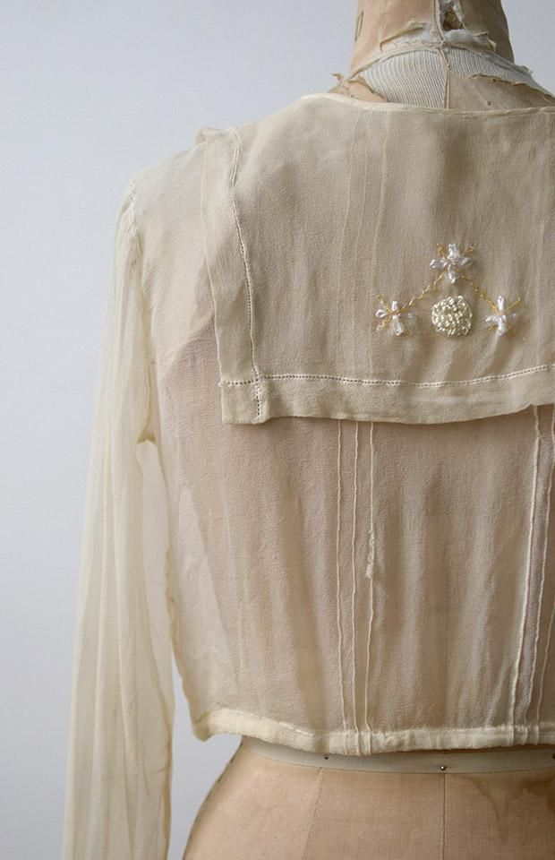 Antique Edwardian Blouse / Antique 1910s 1920s Top / Kindred Spirits Blouse