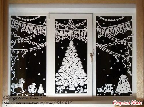 На окно своими руками на новый год