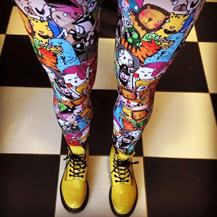 Size L - Katie's Imaginary Friends - Leggings - Made in the UK (20.00 GBP) by KatieAbeyDesign