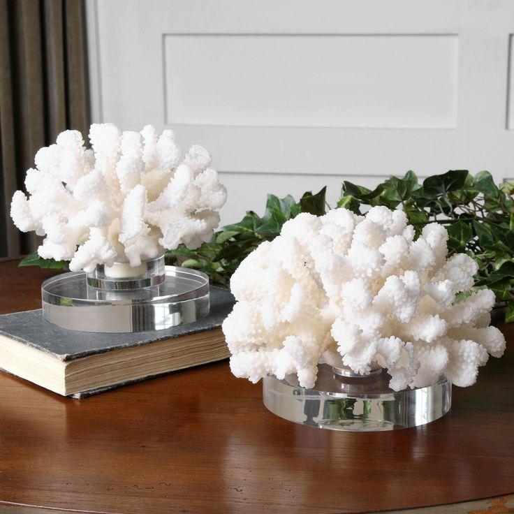 Uttermost Hard Coral Sculptures - Set of 2 - 19910