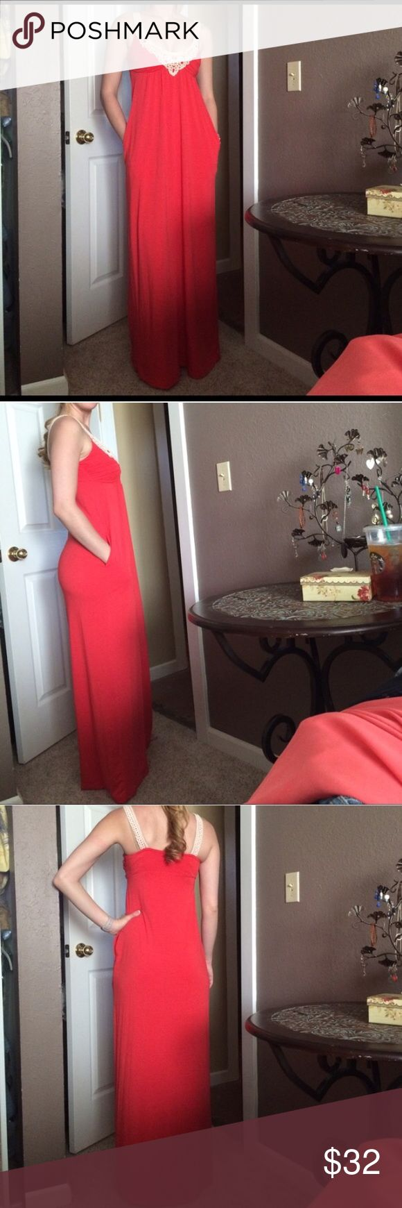 Guess Dress Coral Maxi Guess Dress. Size: Small. Excellent condition! Guess Dresses Maxi