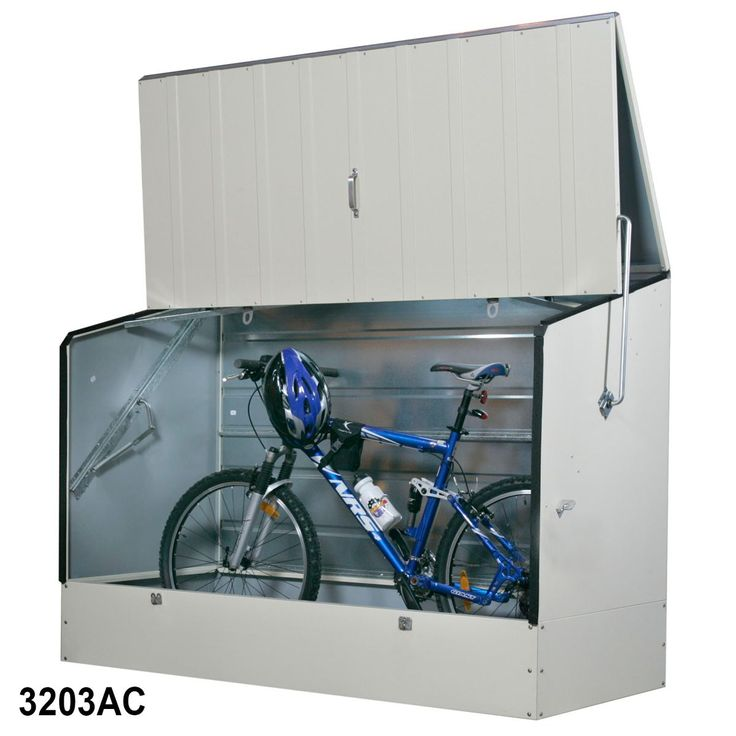 Bicycle Storage Shed front garden