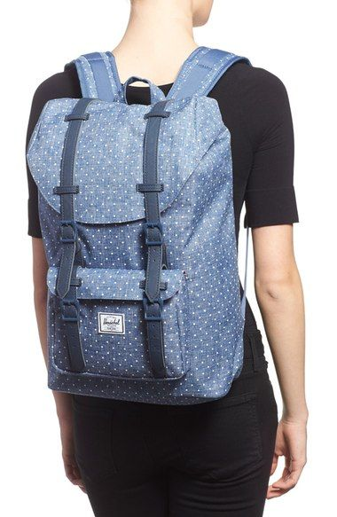 Free shipping and returns on Herschel Supply Co. 'Little America - Mid Volume' Backpack at Nordstrom.com. Mesh padding at the back and cushioned straps detail this built-for-comfort canvas backpack patterned in polka dots and inspired by classic mountaineering.