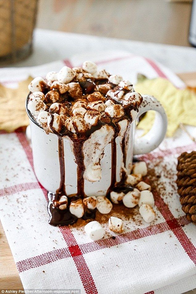 Pinterest has shared exclusively with Femail Food&Drink the visual bookmarking website's top trending red wine hot chocolate recipe, which comes with a festive cinnamon twist