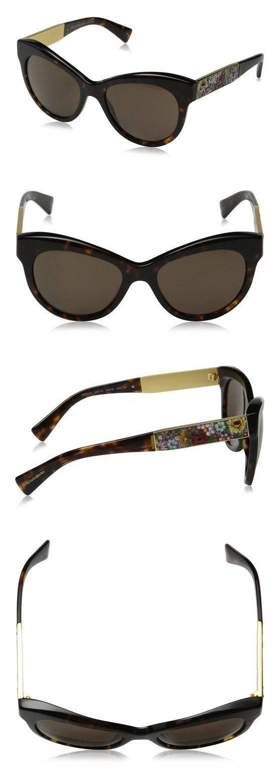$770 - D&G Dolce & Gabbana Women's Mosaico Collection Sunglasses Havana & Brown Brown #dolceegabbana