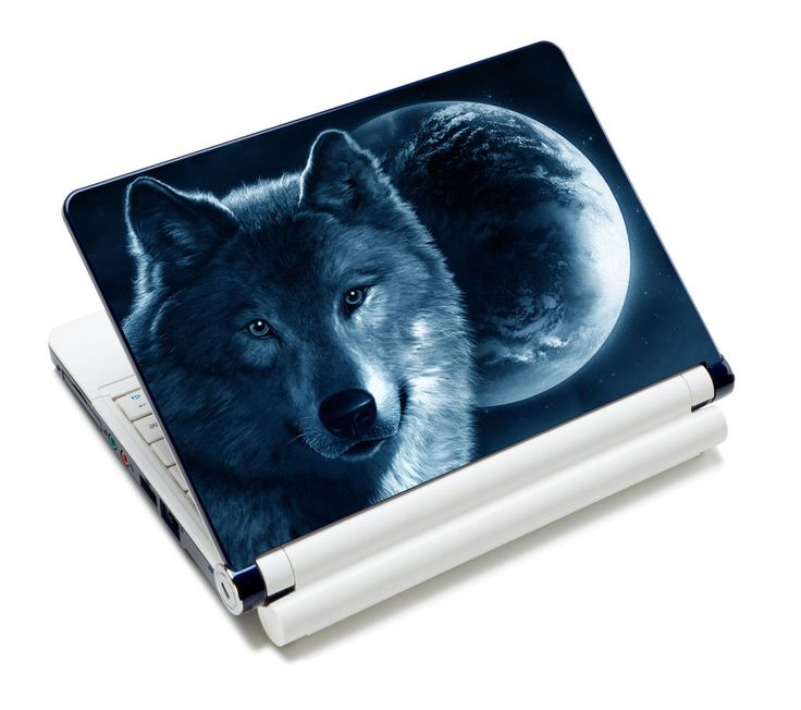 "Cool Wolf 12""13.3""14""15""15.4""15.6"" Laptop Decal Skin Sticker Cover For Sony Acer #UnbrandedGeneric"