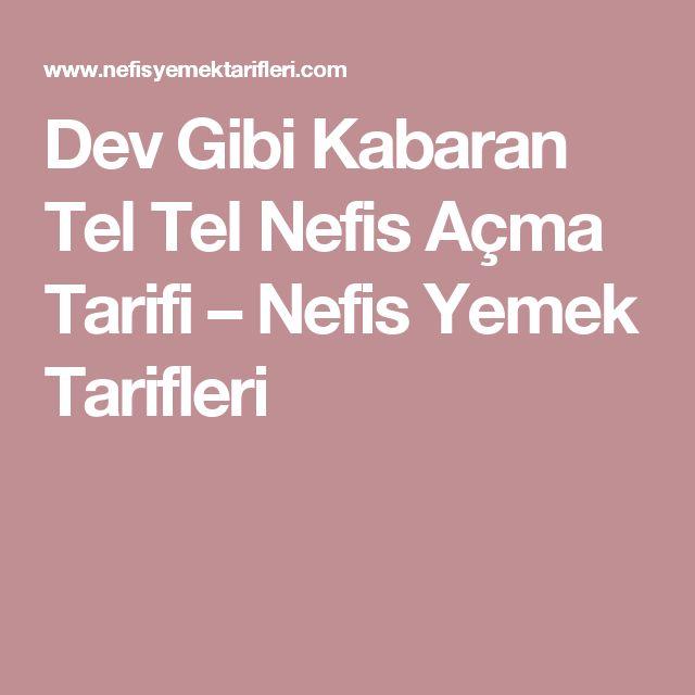 Dev Gibi Kabaran Tel Tel Nefis Açma Tarifi – Nefis Yemek Tarifleri