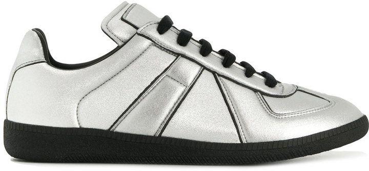 Maison Margiela metallic sneakers