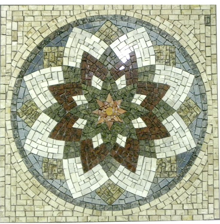 Mandala em mosaico Estrela do Oriente R 717