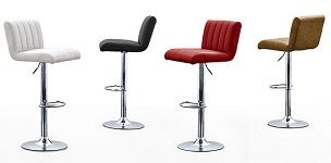 Calo Gas Lift with Swivel Bar Stool - Faux Leather Seats