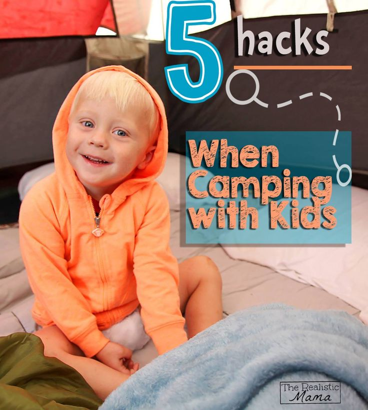5 Great Tips when Camping with Kids! Perfect tips for some quality family time this fall. #camping #kids