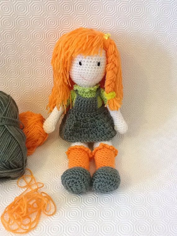 Country girl amigurumi doll by EvalestAmigurumi on Etsy