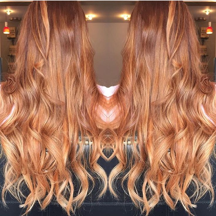 Red To Strawberry Blonde Ombre Balayage Hair Ideas