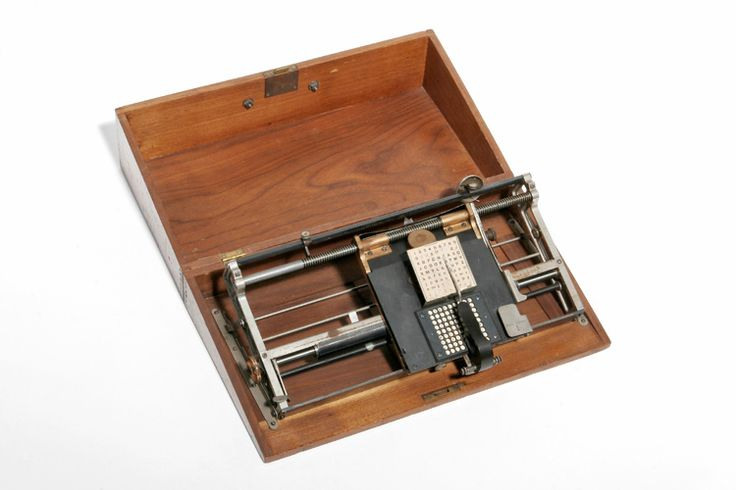 Hall Typewriter 1881. Museo Nicolis collection.