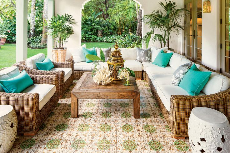 The Loggia - Magnificent Miami Garden - Southernliving. Dana loved the idea of an outdoor room where the…