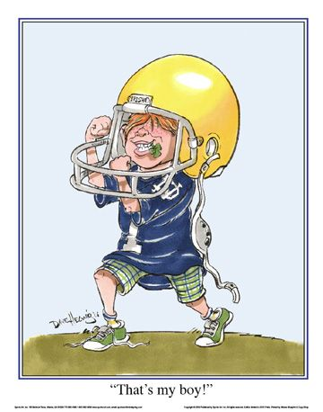 Notre Dame Football Thats My Boy Irsh Mascot Art Print $30