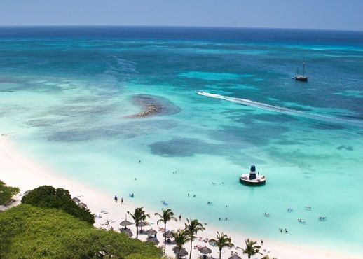 Relax with sun and sand in beautiful Aruba