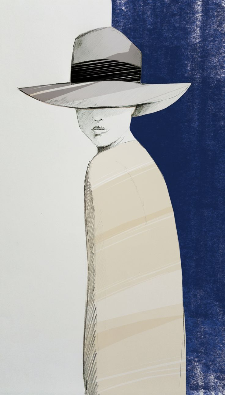 Borsalino Hat inspiration - Fashion Illustration by Beatrice Busco - Follow me on Instagram