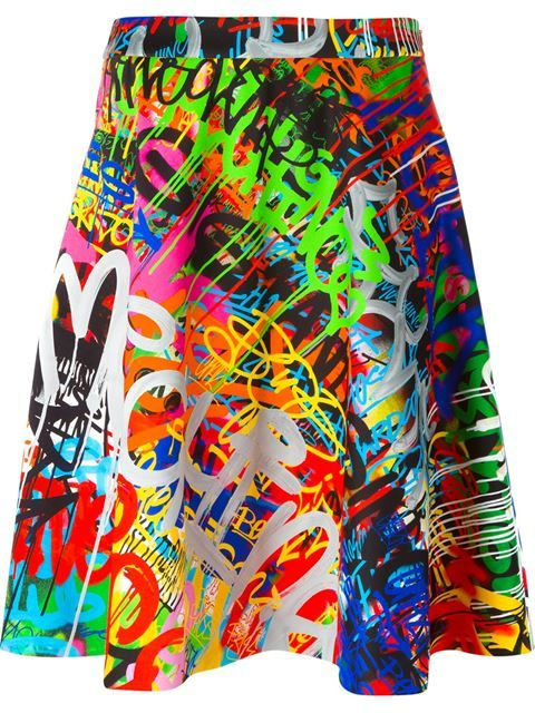 Shop Moschino graffiti print skirt in Petra Teufel from the world's best independent boutiques at farfetch.com. Shop 300 boutiques at one address.