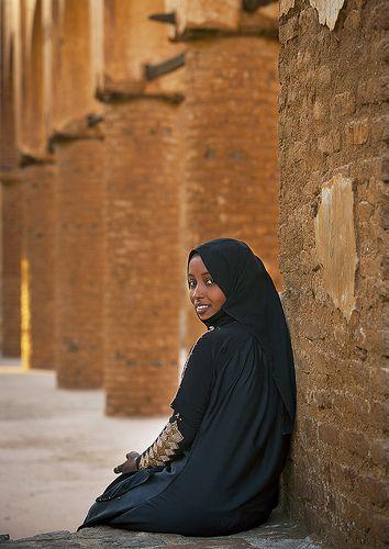 Young Woman In Khatmiyah Mosque, Kassala, Sudan