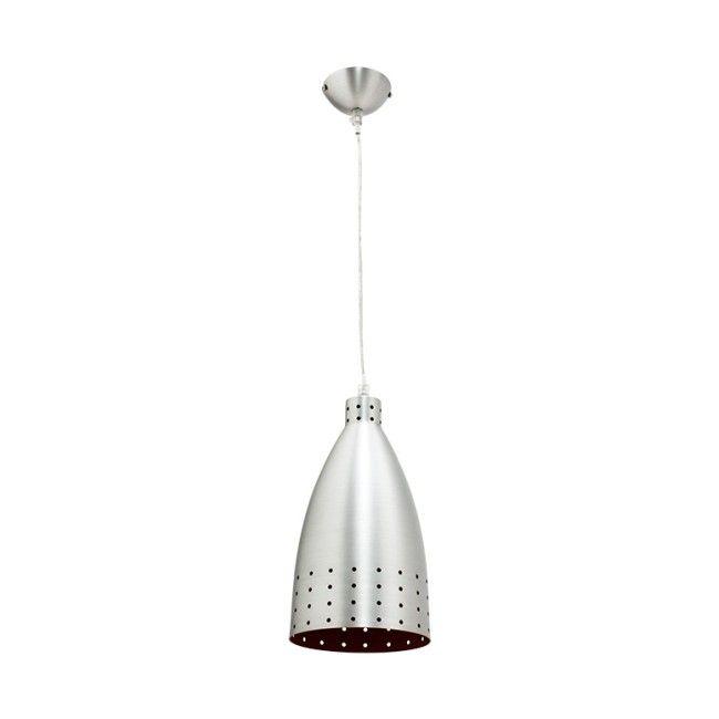 Lampa wisząca Colours Kitchen 1 x 60 W E27 aluminium / czerwona - Lampy wiszące - Lampy ścienne i sufitowe - Oświetlenie - Urządzanie - Produkty