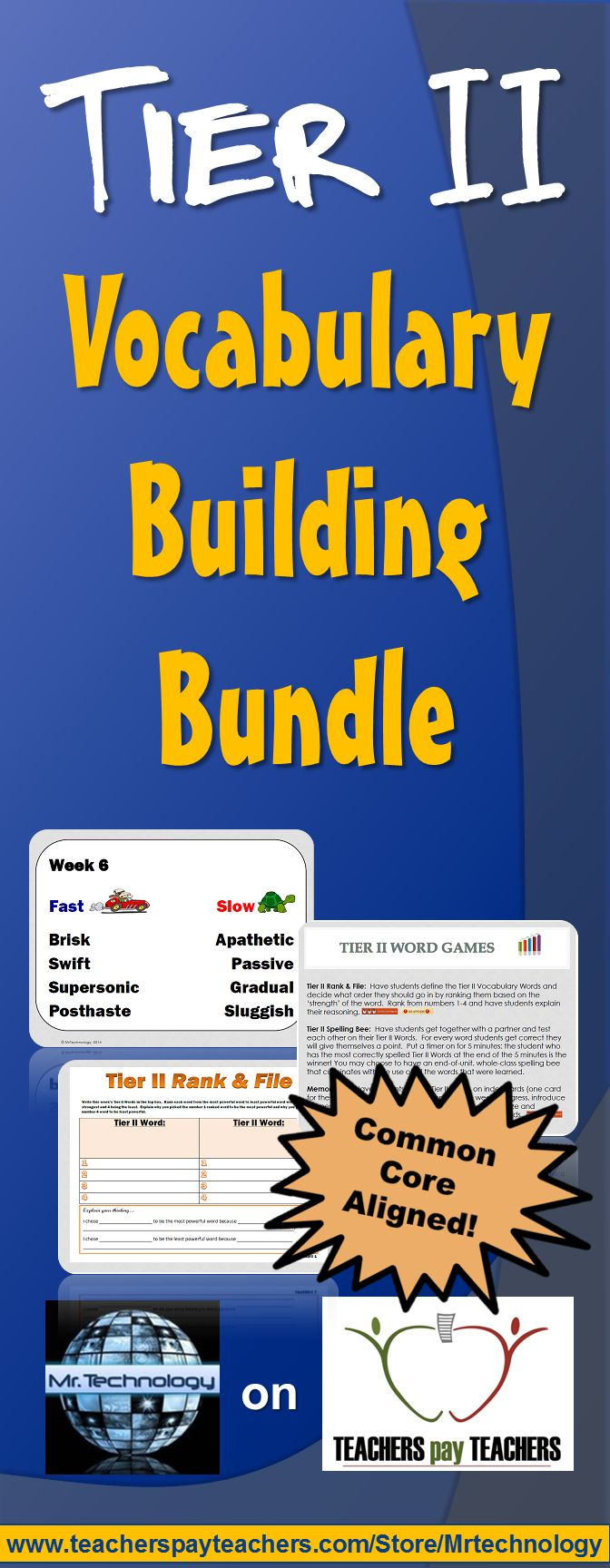 This 20-week Tier II Vocabulary Building Word Pair Bundle for Grades 4 and 5 exposes students to a higher level of vocabulary - one week at a time with opposite word pairs. For example, 'hot / cold', 'new / old' and then pushes student vocabulary by using higher tiered vocabulary for those same words in order to expose students to a deeper meaning for the vocabulary words.