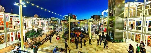 Container Park in Downtown Vegas - A dining, shopping, arts park made of shipping containers. Family friendly until 9 p.m., when it becomes adults only.