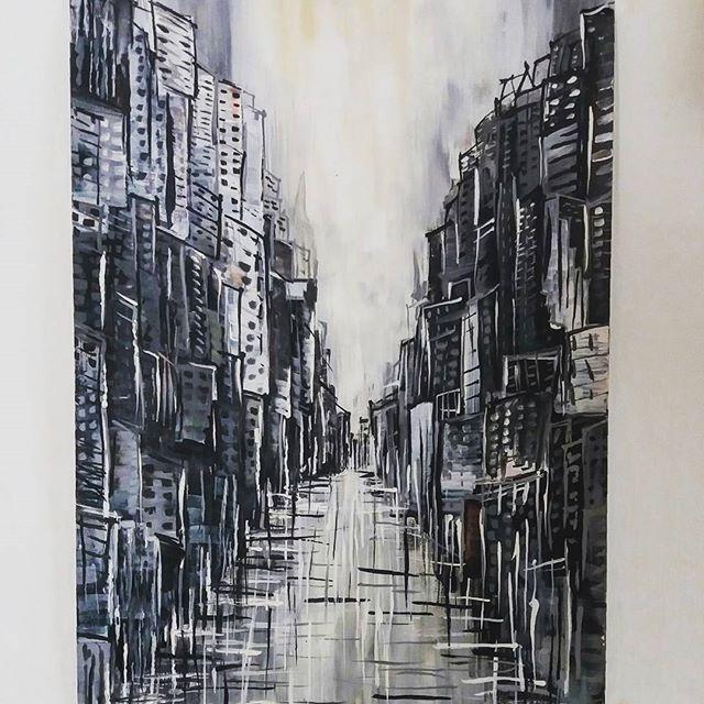 #town 🌆  #painting #artstagram #acryl #art #acrylicpaint #artist #paint  #colors #art🎨  #figure #arts_help #busart #artwork #loveart #line #artlovers #instaart  #illustration #art_community  #creative #paintoftheday