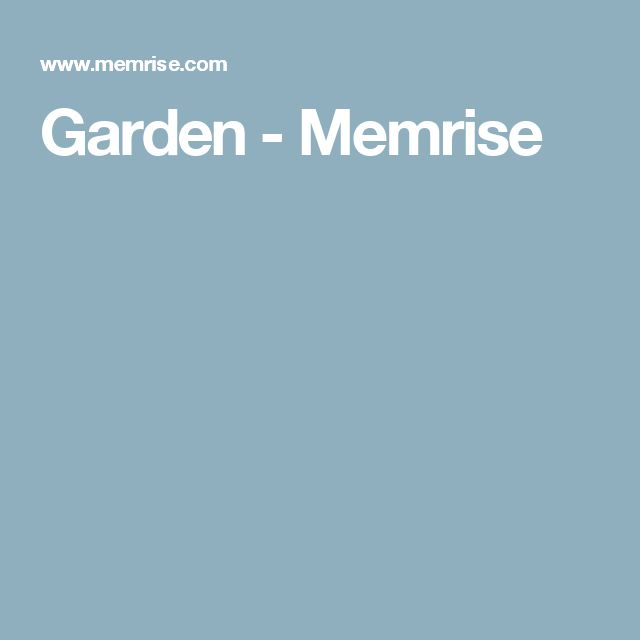 Garden - Memrise