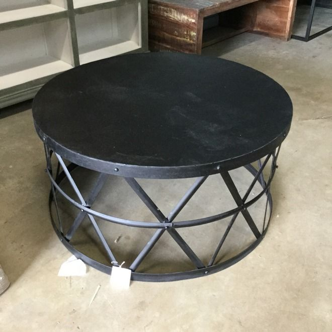 Rustic Farmhouse Style Round Wood And Metal Coffee Table | Whimsy Girl  Design Blog: Daily Deals | Pinterest | Rustic Farmhouse, Farmhouse Style  And Woods.