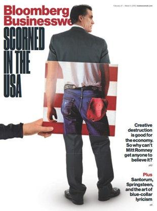 Bloomberg Businessweek gives Mitt Romney Bruce Springsteen's rear