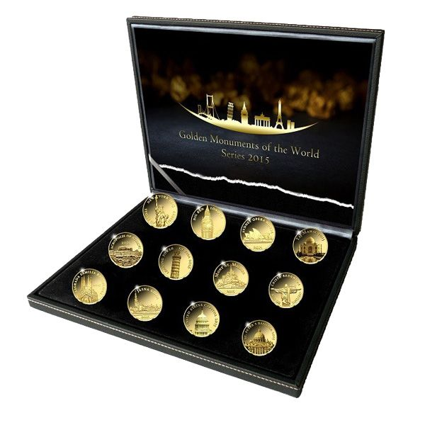Καθώς οι διεθνείς τιμές του χρυσού συνεχώς ανεβαίνουν, επενδύστε στην πιό σπανια συλλογή σε μινι χρυσα νομίσματα με τα Μικρά Χρυσά Νομίσματα, Ιστορικά Μνημεία 24Κ, 0.5γρ, 2013-2016,