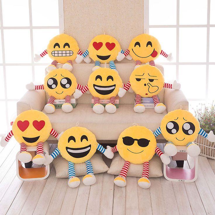 Office Seat Pillows Soft Emoji Smiley Emoticon Pillows Yellow Round Cushion Pillow Stuffed Plush Toy Doll Christmas Present C73