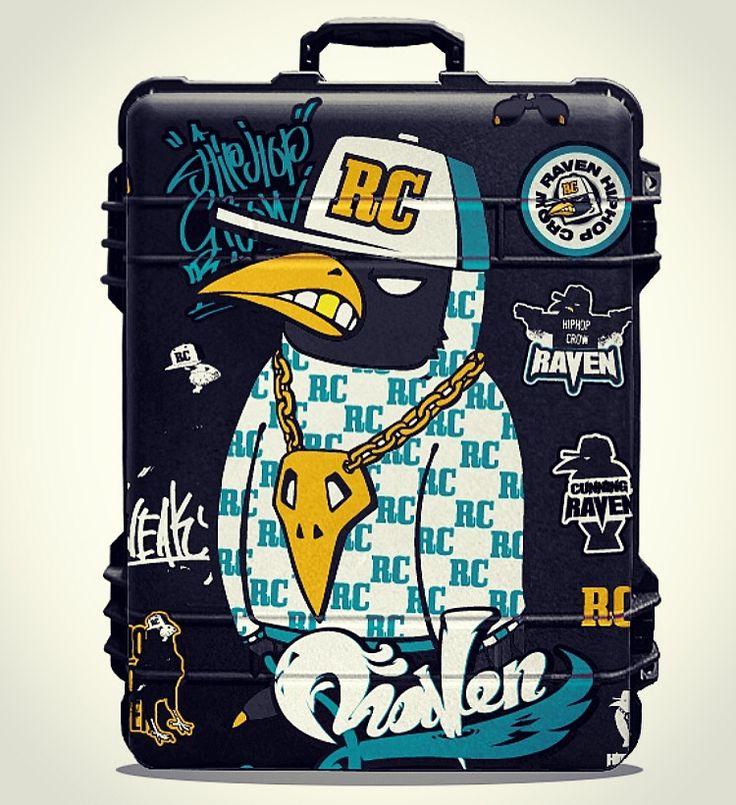 Hiphop crow raven pelican suitcase sticker design. Designed by DOLDOL. www.graphicer.co.kr. #Snowboard #skateboard #suitcase #longboard# #surf #서프 #crow #힙합 #펠리칸  #스노우보드 #롱보드 #bike #까마귀 #케이스 #bag #pelican #graffiti #로고 #서핑 #돌돌디자인 #여행가방 #캐릭터 #인스타그램 #여행가방스티커 #캐리어 #슈트케이스 #extreme #mtb #스티커 #camp