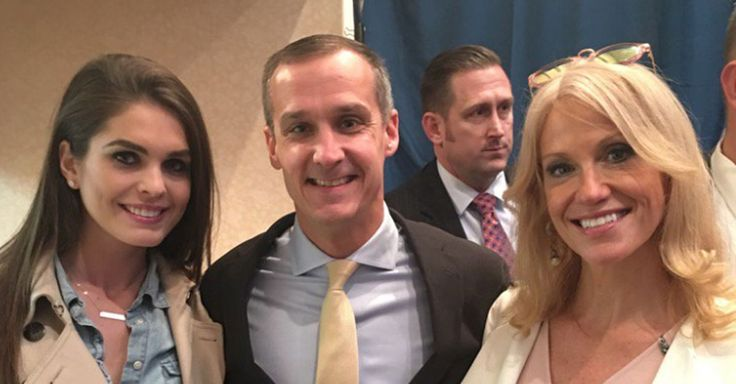 """CNN's ethical dilemma over its employment of Corey Lewandowski, Republican presidential nominee Donald Trump's former campaign manager, as a political analyst was on display once again when current campaign manager Kellyanne Conway tweeted a picture of her and Lewandowski with the caption """"#teamwork #NH.""""   #teamwork #NH pic.twitter.com/"""