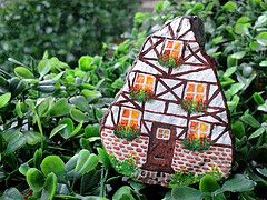 The little house ;-) (clickMYworld) Tags: houses house rock socks stone painting rocks little charlotte drawing stones painted small cottage...