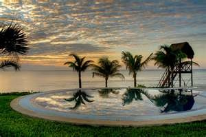 A beautiful sunrise at Secrets Silver Sands Resort - Riviera Maya, Mexico