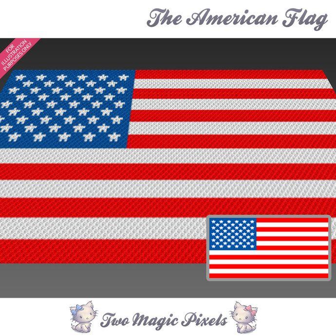 Deken Amerikaanse Vlag.Pin Op Crocheting