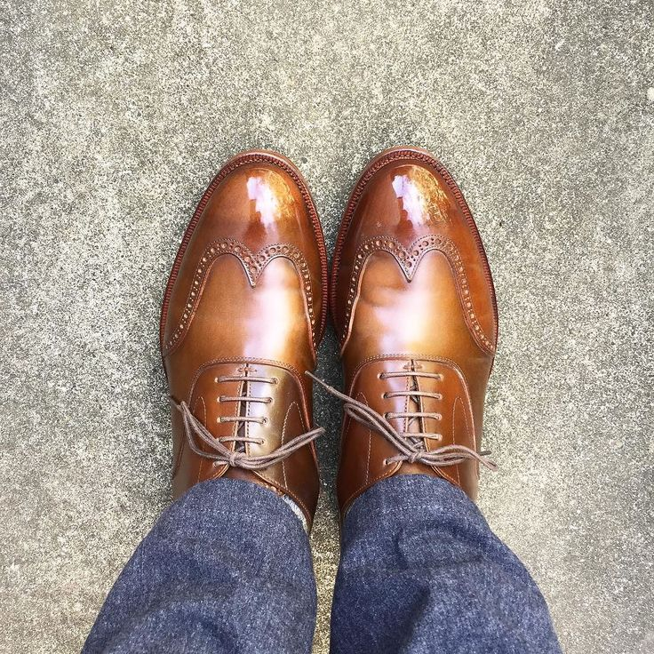 KOKON ちょっと買い物靴は予定変更しました #kokon #kokonshoes #cordovan #shoes #mensshoes #sotd #shoesoftheday #ココン #コードバン #紳士靴 #革靴