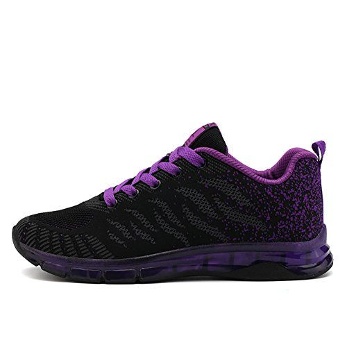 cf054d45759 Fexkean Femme Fille Basket Mode Chaussure de Course Running Sport Basses Sneakers  Multisports Outdoor Fitness Gym