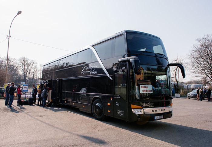 Рейсовый автобус Ужгород - Прага (ОБНОВЛЕНИЕ РЕЙСОВ) Автобус Ужгород - Прага  -  кожаные кресла , био-туалет и скоростной W FI