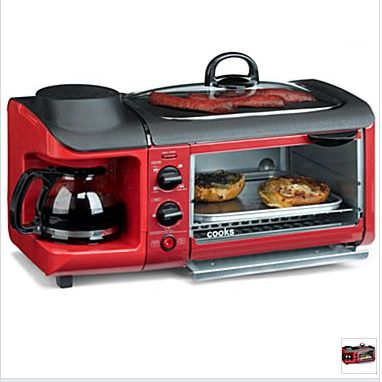 In my previous post I mentioned that I purchased one of these Cook's 3 in 1 Breakfast Center's. While these are relatively small, my kitchen counter space in the Shasta Compact is small…