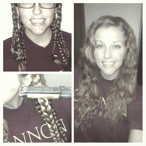 How to create waves. 1)Braid hair 3 to 5 2) straighten braids 3 times 3) undo and you got waves