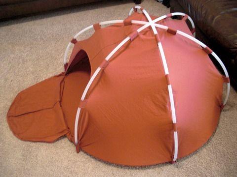Zelf een tent maken.