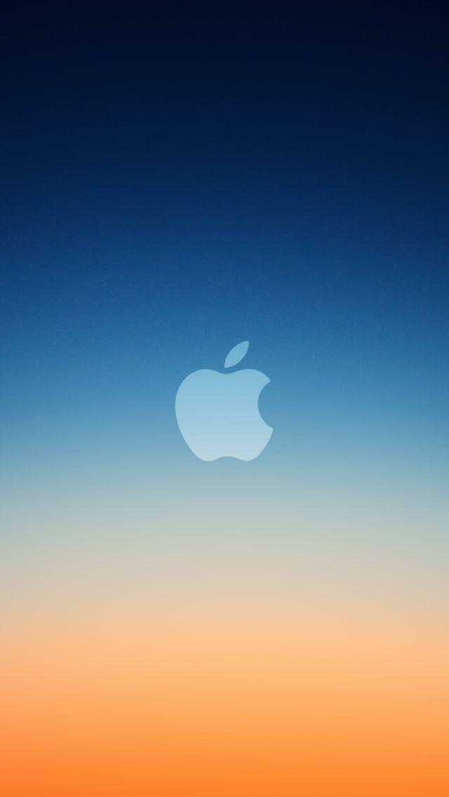 New Blue Orange Apple Apple Logo Wallpaper Iphone Apple
