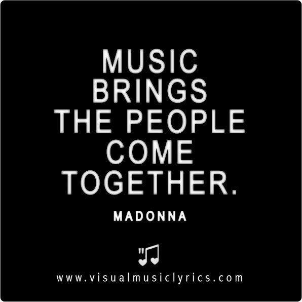 MADONNA - MUSIC - VISUAL MUSIC LYRICS - LOVETHISLYRICS - SONGTEXTE GRAFIKEN