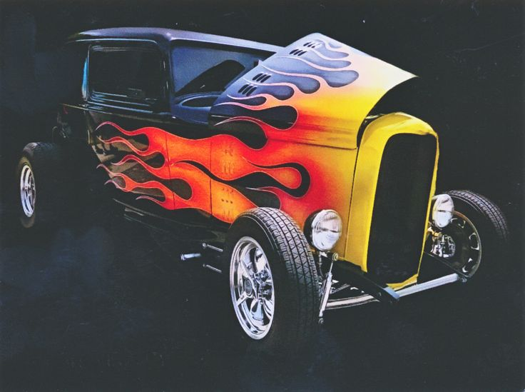 Flames Street Rod Hot Rod Postcard from Michelle in Lancaster, Pennsylvania