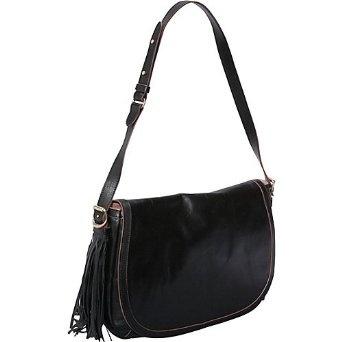 SEE by Chloe Twin Tassels Shoulder Bag with Flap Black - SEE by Chloe Designer Handbags,