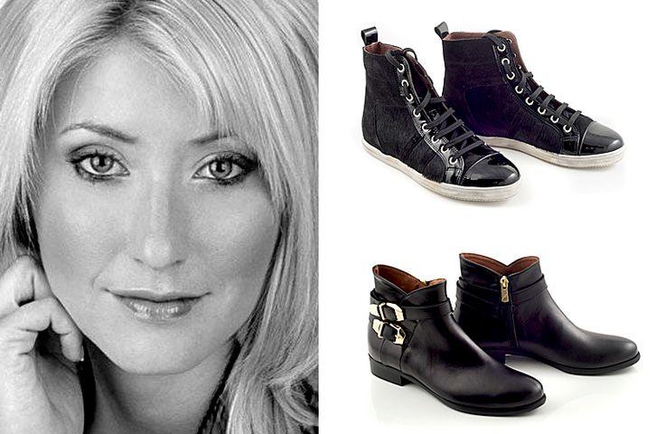 Greek journalist Sia Kosioni's daily choice..  #blacksneakers #sneakers #chaniotakis #womenshoes #shoes