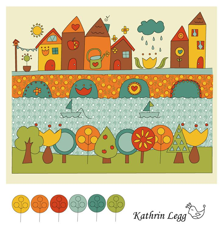 Dear Elise by Kathrin Legg cute village illustration